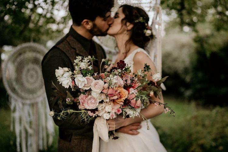Stunning pink wedding bouquet