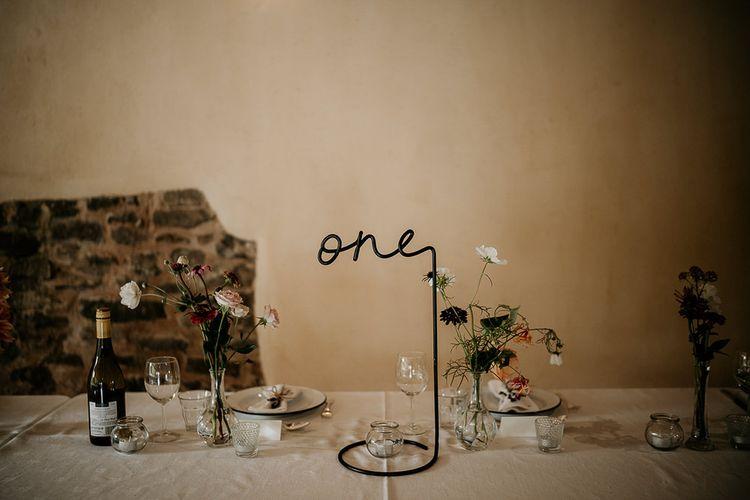 Handmade wedding table numbers