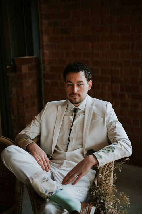 Groom in White Suit from ASOS