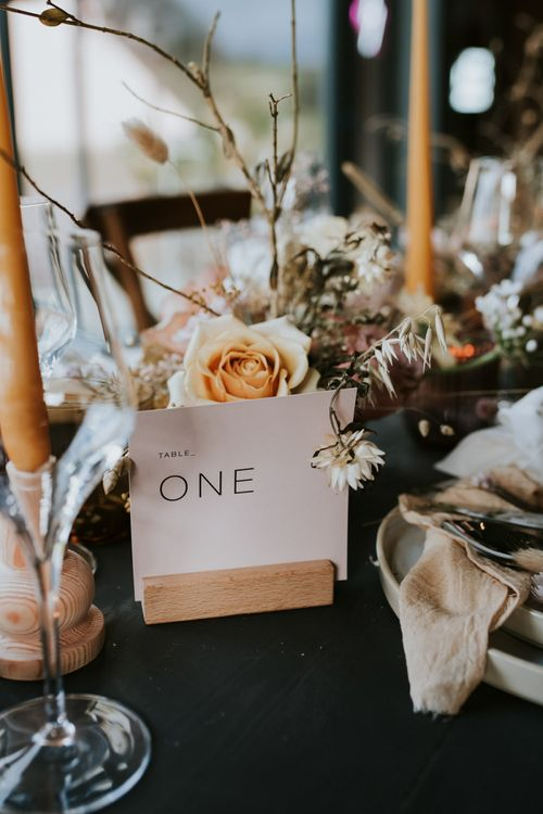 Minimalist Wedding Font for Table Name