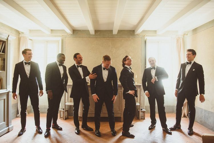 Groomsmen in Tuxedos