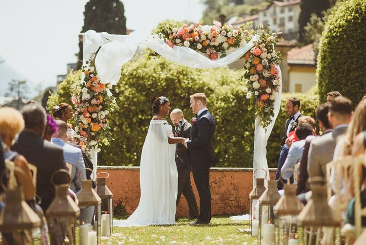 Lake Como wedding ceremony