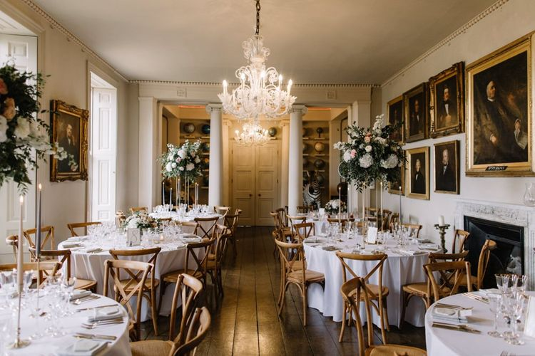 Elegant Aynhoe Park reception