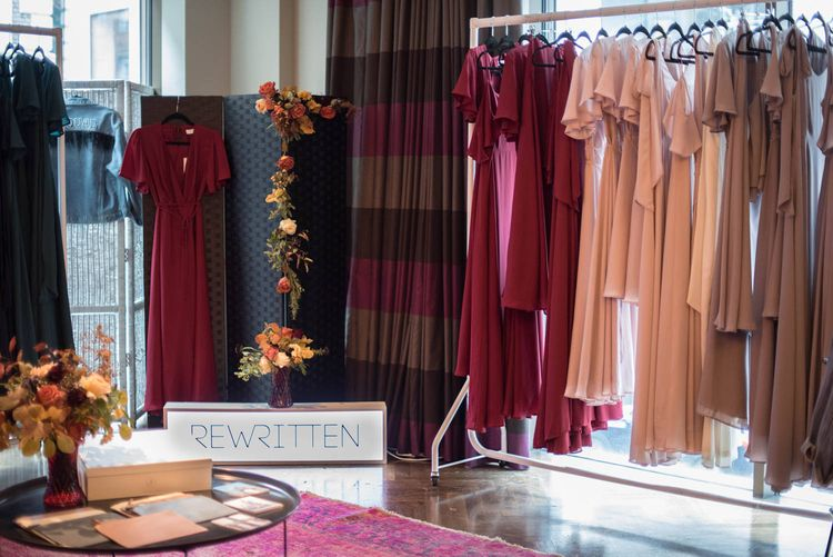 Rail of Rewritten Bridesmaid Dresses at Maid with Style London Bottomless Brunch