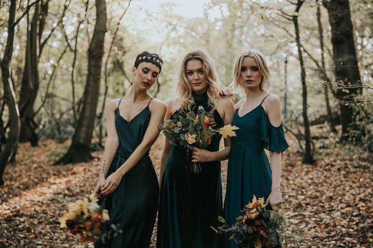 ReWritten Forest Green Bridesmaid Dresses