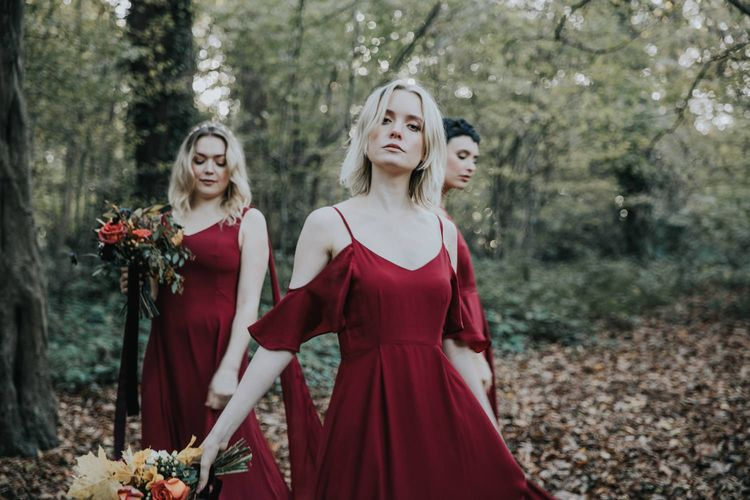 ReWritten Burgundy Bridesmaid Dresses