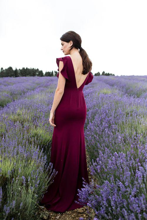 Burgundy TH&TH Bridesmaid Dress