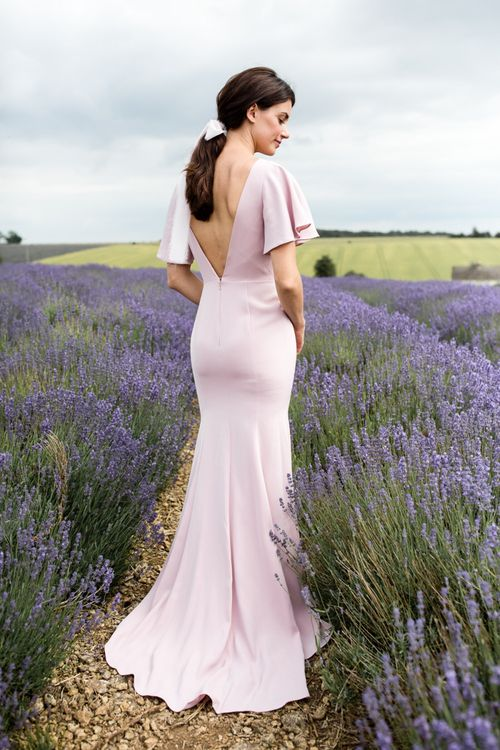 Pink Fitted TH&TH Bridesmaid Dress