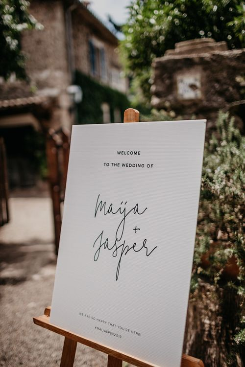 Contemporary wedding stationery and signs