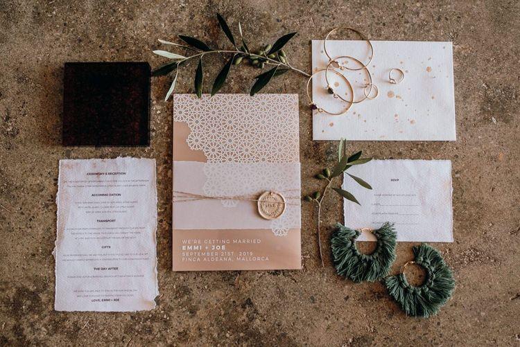 Wedding invitation for elopement