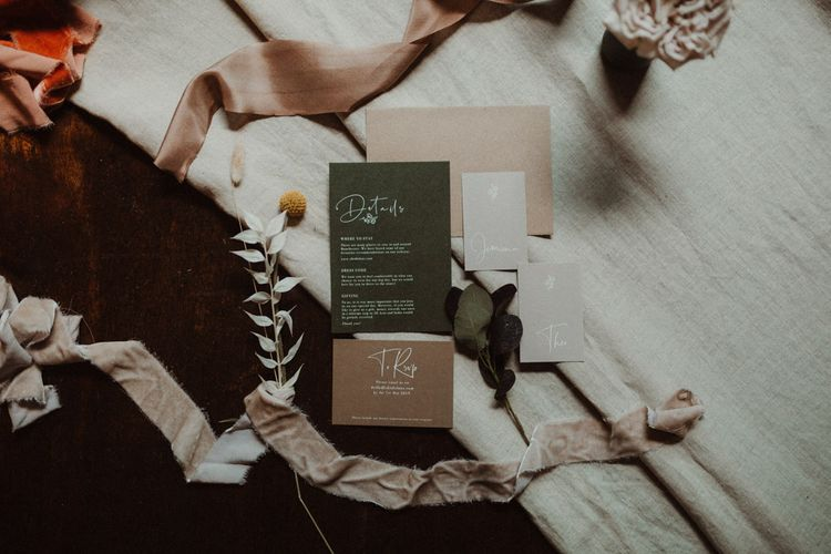 Contemporary Wonderland Invites Wedding Stationery Suite
