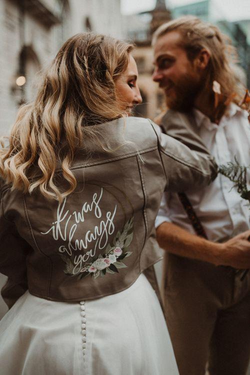 Customised Bridal Leather Jacket