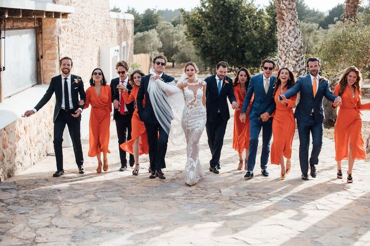 Group portrait at Ibiza wedding