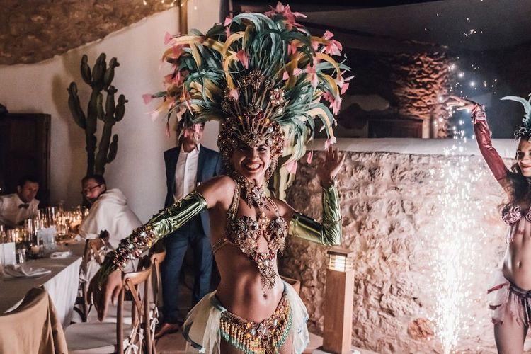 Samba dancer wedding entertainment at Ibiza wedding