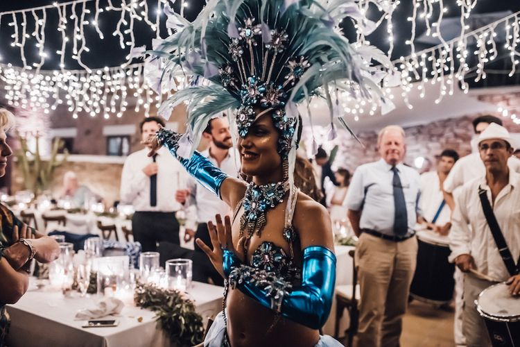 Samba dancer wedding entertainer