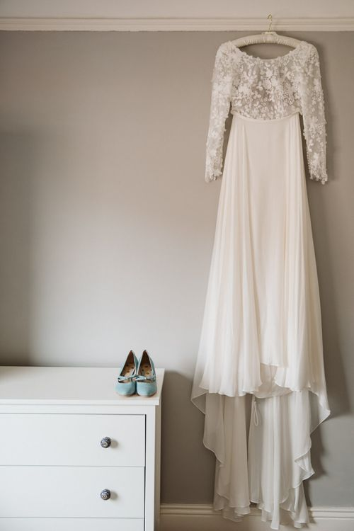 Emma Beaumont Wedding Dress with Applique Bodice