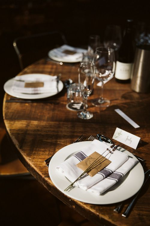 Place Setting with Linen and Wildflower Seed