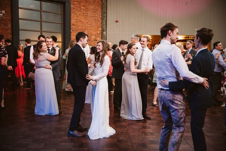Wedding Guests Dancing at the Evening Reception