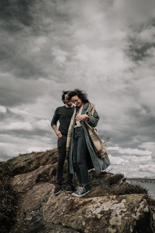 Atmospheric, Coastal, Pre Wedding, Engagement Shoot in North Spain by Matthias Toth Photographer | French Wedding Photographer