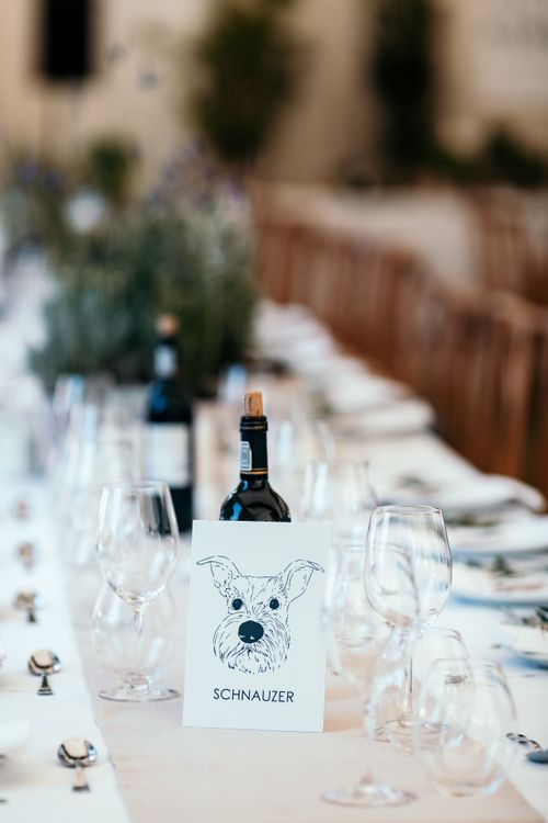 Table Decor.  Table Names and Potted Herbs. Marquee in Jersey. Foliage Installations. Stationery by Quints of Jersey. Bride Wears Enzoani. Photography by Max Burnett