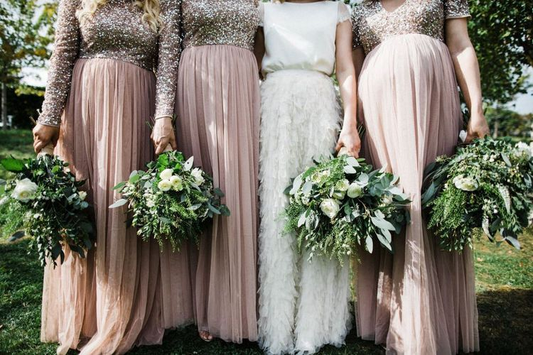 Bridal Party in Tulle Skirts