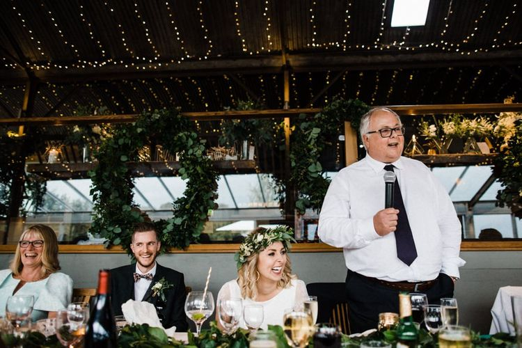 Father of the Bride Wedding Speech at Stone Barn