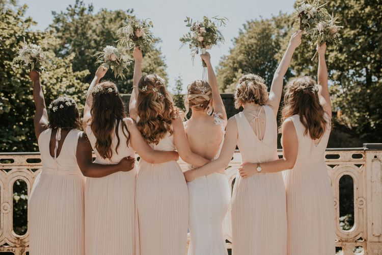 Bridesmaids In Pale Pink Dress From ASOS / Image By Nataly J Photography