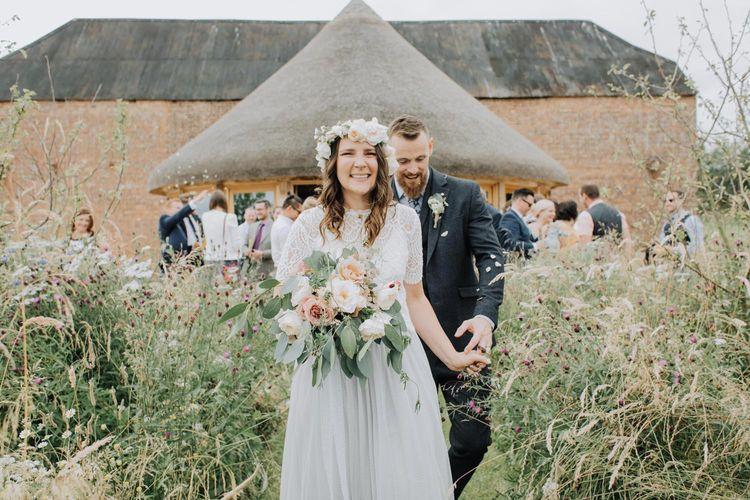 Bride in separates for Brickhouse Vineyard wedding