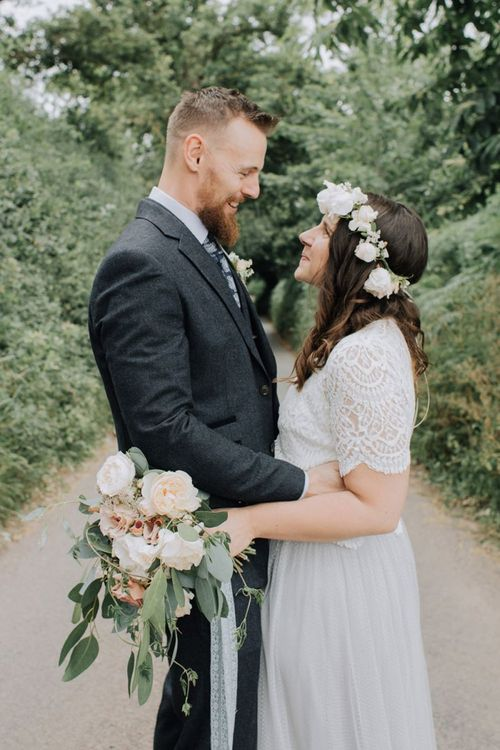 Intimate wedding portrait by Mimosa Photography