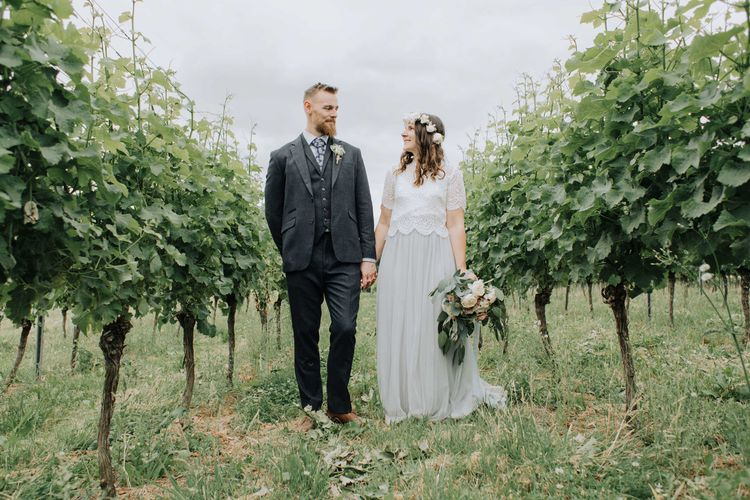 Bride and groom portrait by Mimosa Photography at Brickhouse Vineyard