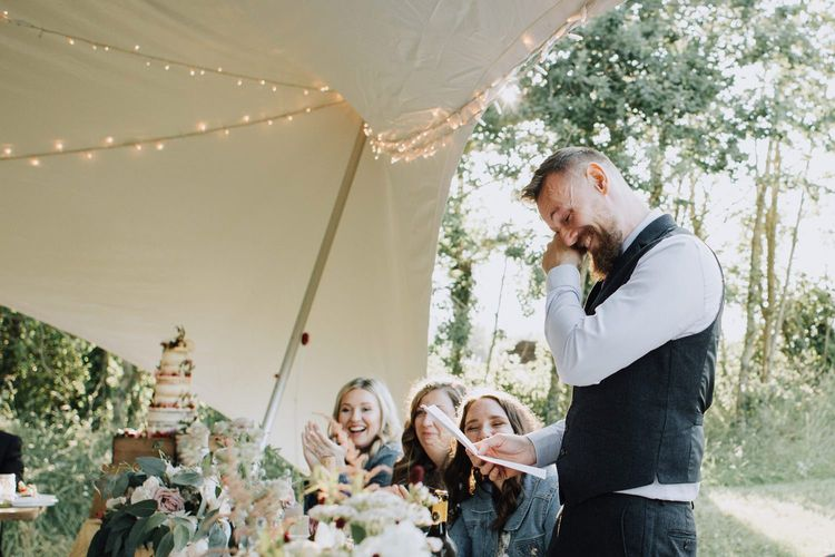 Grooms speech at Brickhouse Vineyard wedding