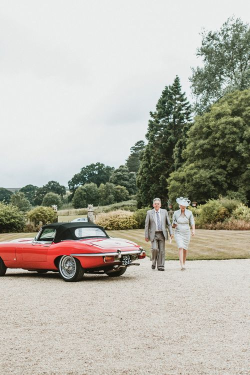 Wedding Guests Arriving at Brympton House, Somerset