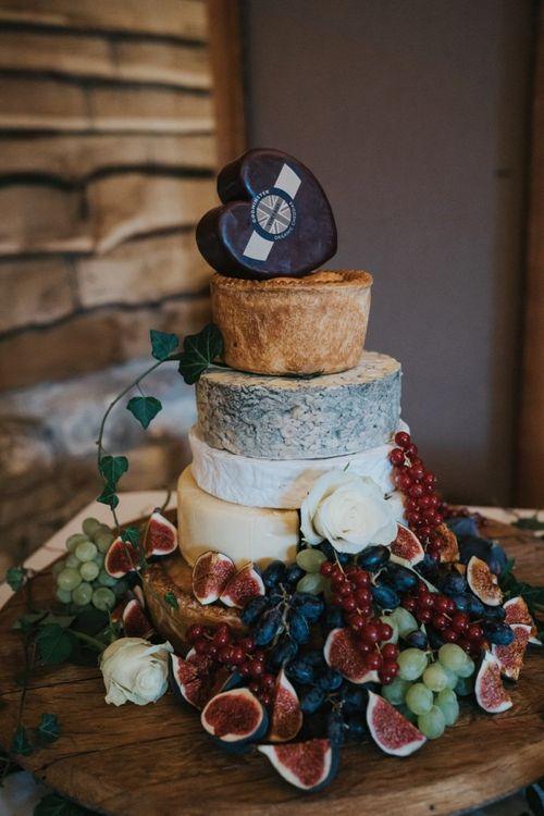 Cheese tower at fusion wedding