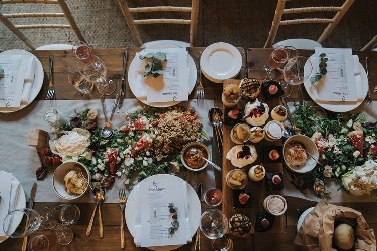 Sharing platters at Yorkshire wedding venue