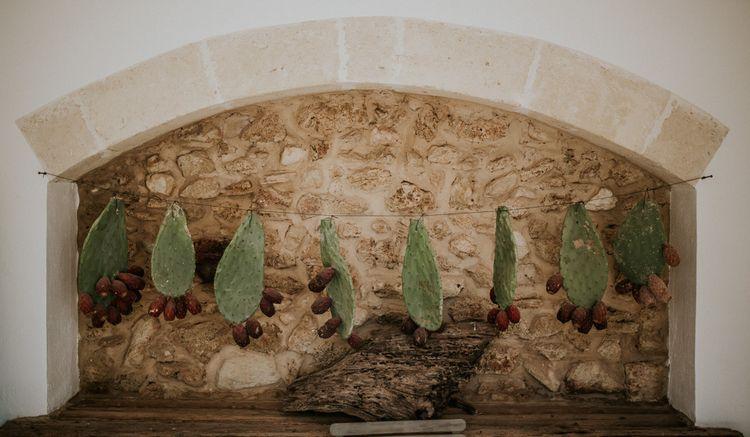 Strung Up Cactus Wedding Decor