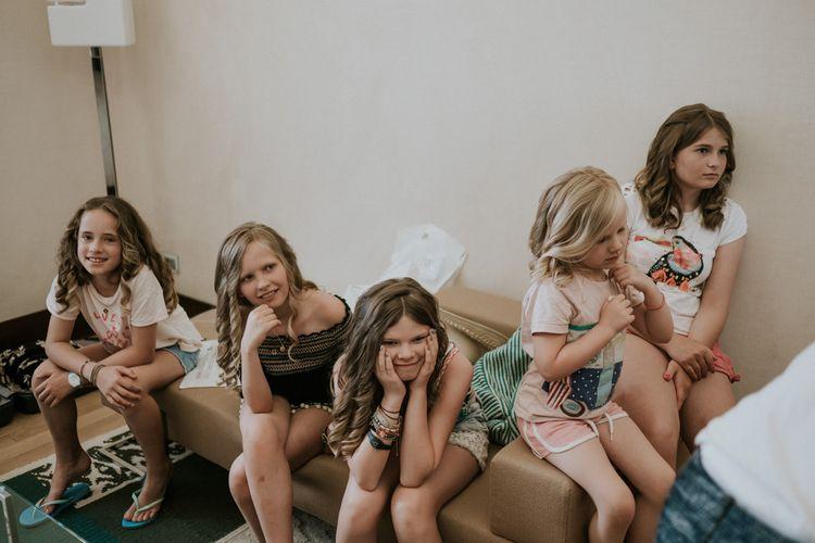 Little Girls on Wedding Morning