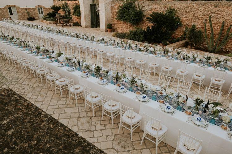 Outdoor Italian Destination Wedding Reception