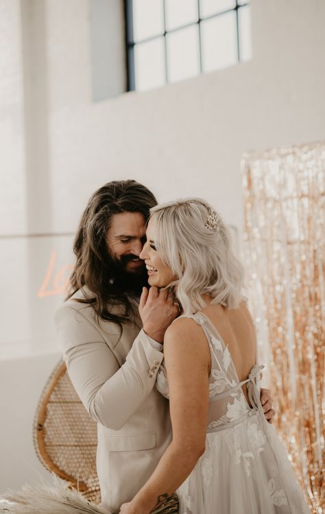 Intimate bride and groom portrait by Pierre G Photography