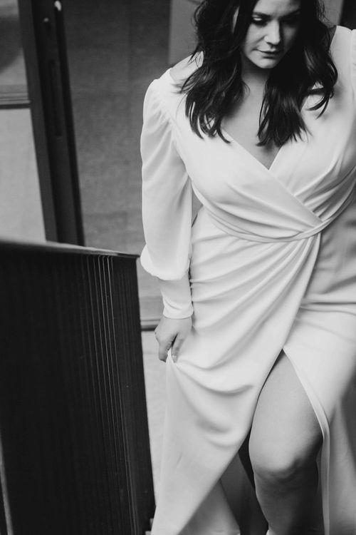 Nikki Dress By Karen Willis Holmes // Minimal, Elegant and Sleek Wedding Dress