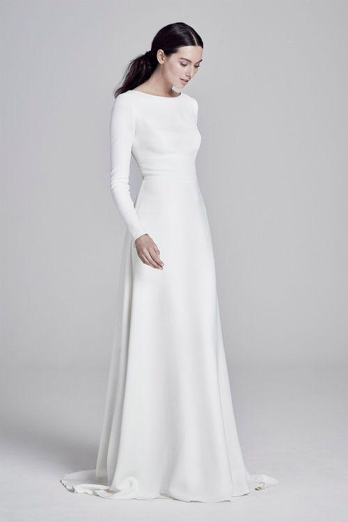 Adair by Suzanne Neville // Minimal, Elegant and Sleek Wedding Dress