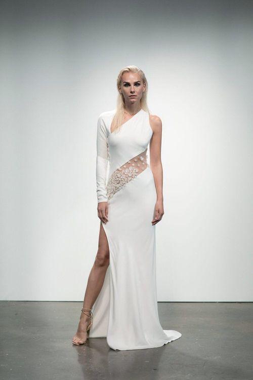 Pavlova by Rime Arodaky // Minimal, Elegant and Sleek Wedding Dress