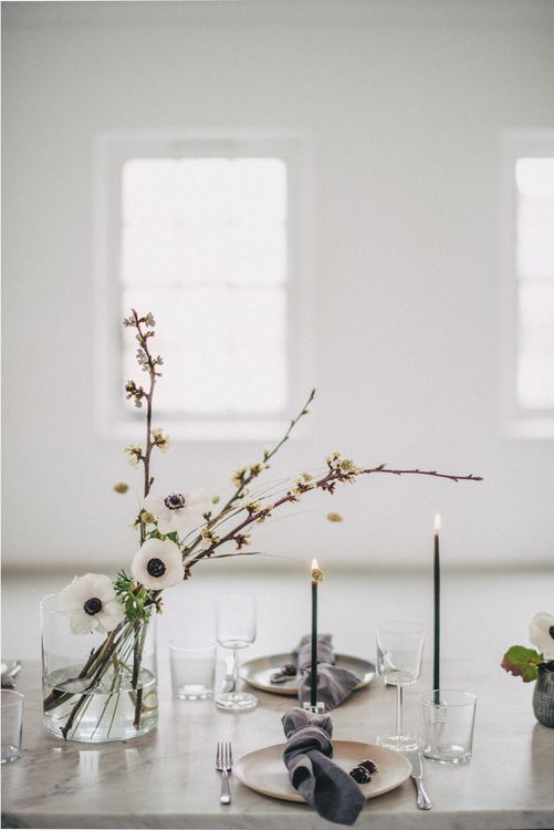 Minimal Wedding Styling By Anemone Style