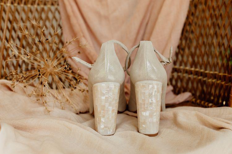 Tortoise Shall Heeled Bridal Shoes
