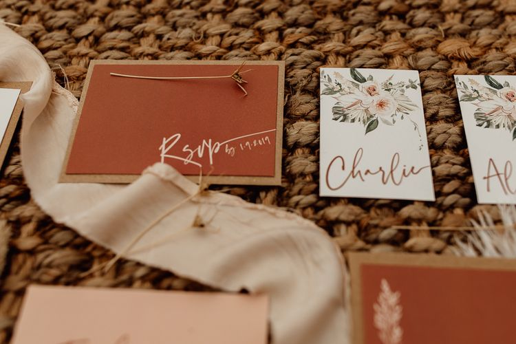 Natural Wedding Stationery Suit by Wonderland Invites