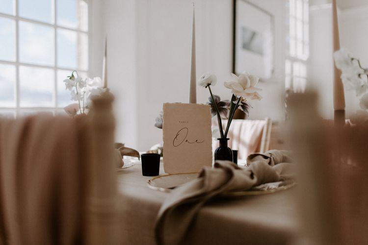 Modern wedding stationery design idea