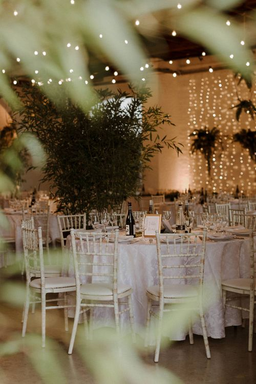 Modern Minimalist decor for this Green And White Luxe, City Wedding. Photography by The Curries.