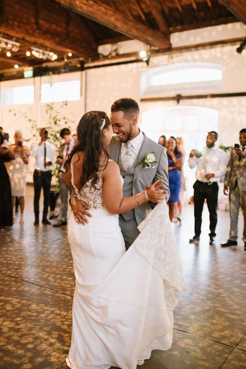Modern Warehouse Wedding in London at Trinity Buoy Wharf. Images by Captured by Katrina Photography