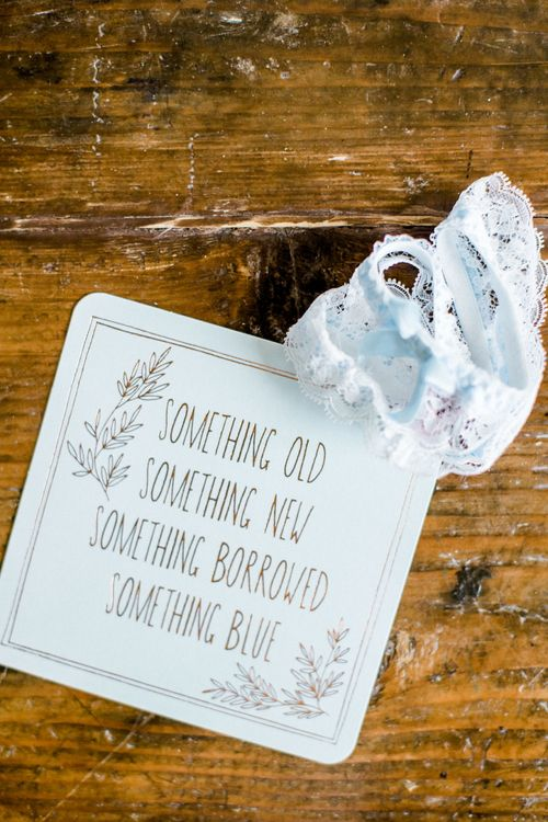Something Old, Something New, Something Borrowed, Something Blue Card & Wedding Garter