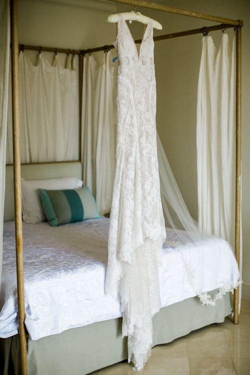 Lace Anna Georgina Hanging Up on Four Poster Bed