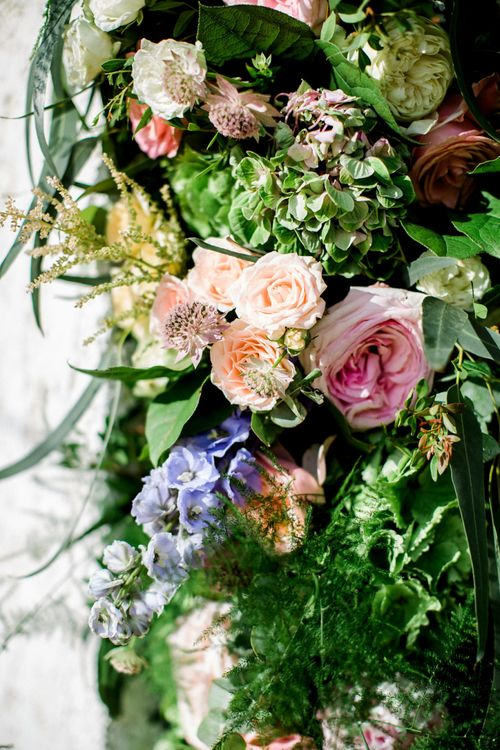 Pink, Lilac and Peach Pastel Wedding Flowers